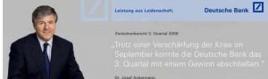 Website der Deutschen Bank