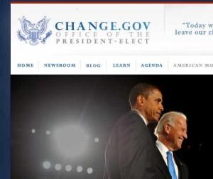 Ausriss aus Website des President-Elect