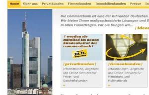 Ausriss aus Homepage der Commerzbank