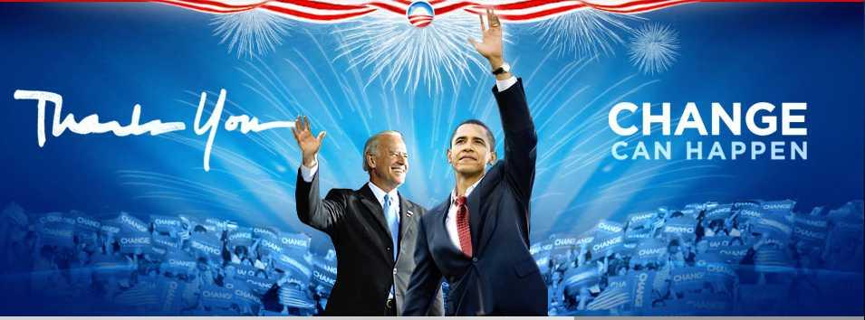 Ausriss aus Website von Obama nach Wahlsieg