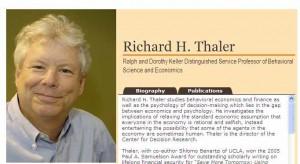 Ausriss aus Homepage von Richard Thaler