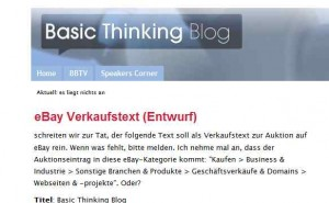 Blogausriss Basic Thinking Blog