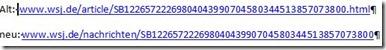 WSJ URL Änderung